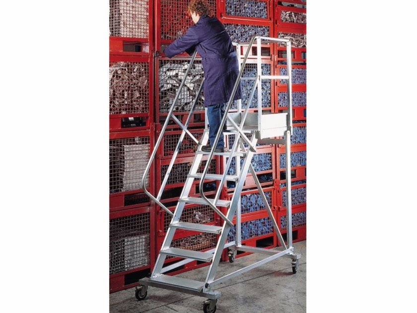 Mobile ladder 7760 - 7780 - Frigerio Carpenterie