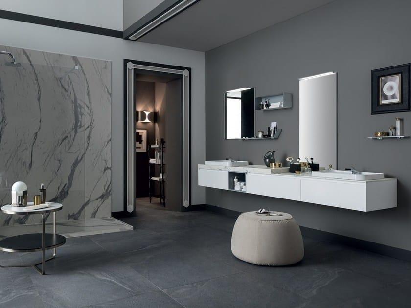 Mobile lavabo doppio sospeso con cassetti 80 3 0 rab - Rab arredo bagno ...