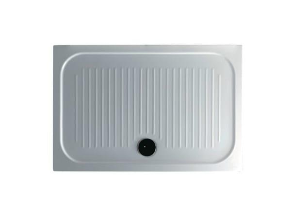 Anti-slip rectangular shower tray H6 - FLAT - 80 x 120 - GALASSIA