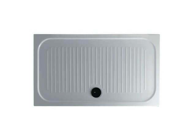 Anti-slip rectangular shower tray H6 - FLAT - 80 x 140 - GALASSIA