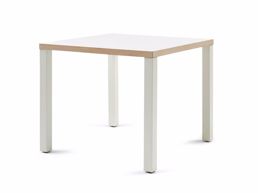 Lacquered square wooden table 800 H 76 | Table - Z-Editions
