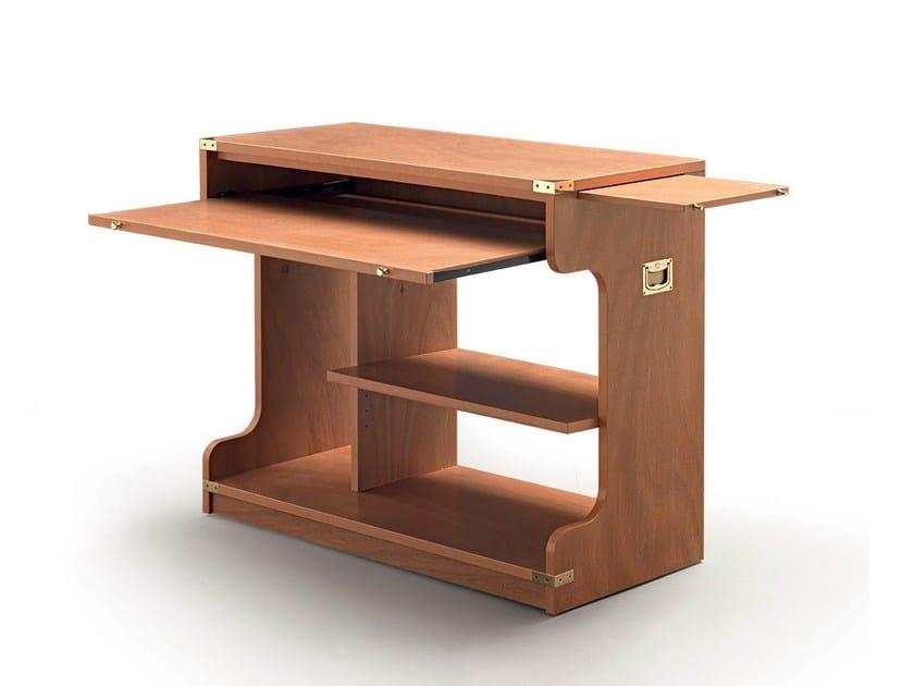 Scrivania in legno per pc 811 scrivania per pc caroti for Scrivania per pc