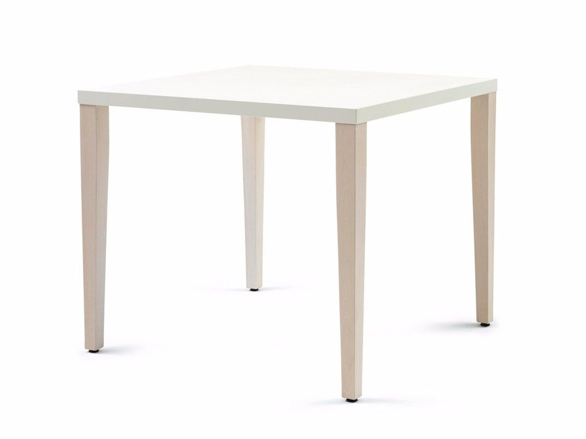 Lacquered square wooden table 830 H76 | Table - Z-Editions