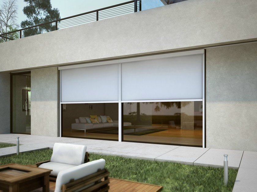 Box roller blind with guide system 85 GPZ S S04 | Awning by KE Outdoor Design