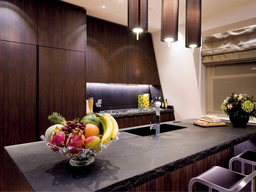 Ebony kitchen with island Ebony kitchen - TM Italia Cucine