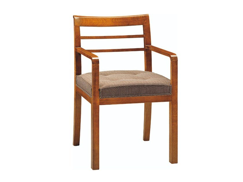 Cherry wood chair with armrests IMPERIA | Chair with armrests - Morelato