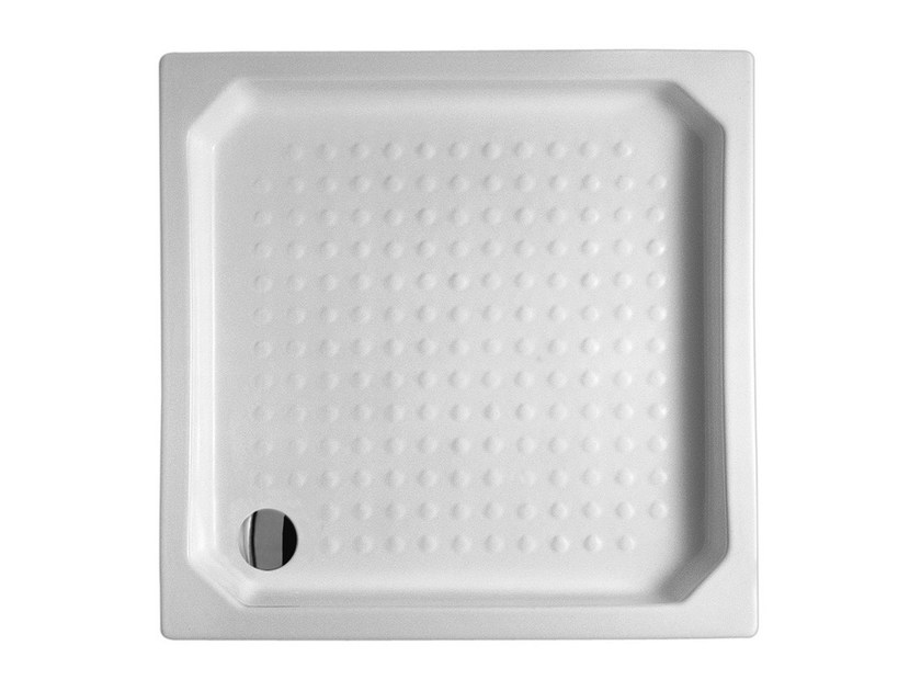 Built-in square ceramic shower tray 90X90 | Shower tray - Alice Ceramica