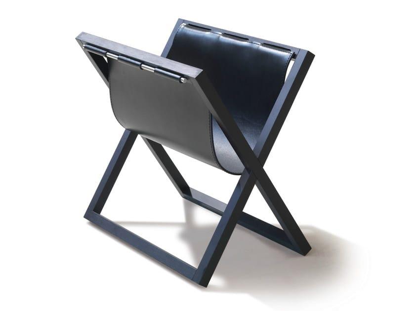Folding leather magazine rack 9500 - 34 | Leather magazine rack - Vibieffe