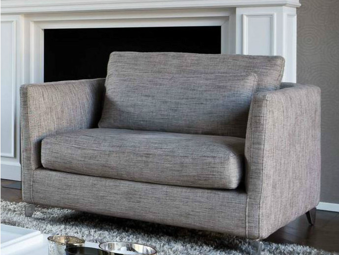 Upholstered fabric fireside chair with armrests 960 ZONE | Fireside chair with armrests - Vibieffe