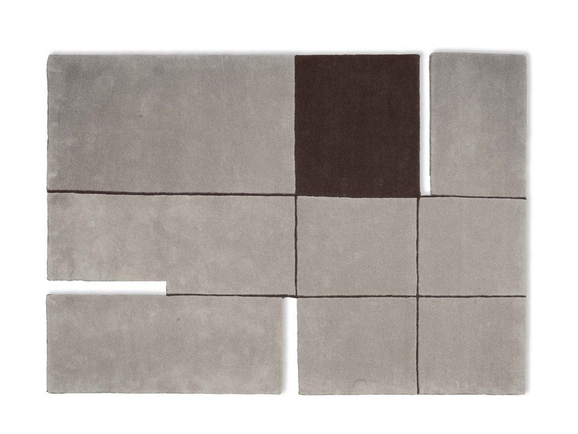 Rectangular wool rug A 180° - GAN By Gandia Blasco