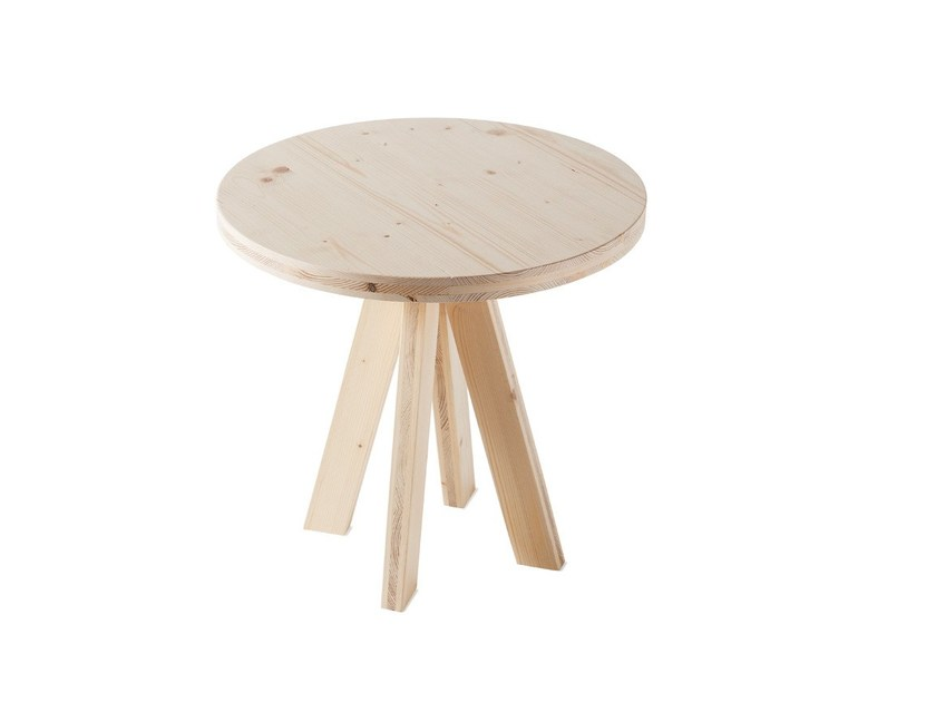 Low round spruce coffee table A.NGELO | Coffee table - Atipico