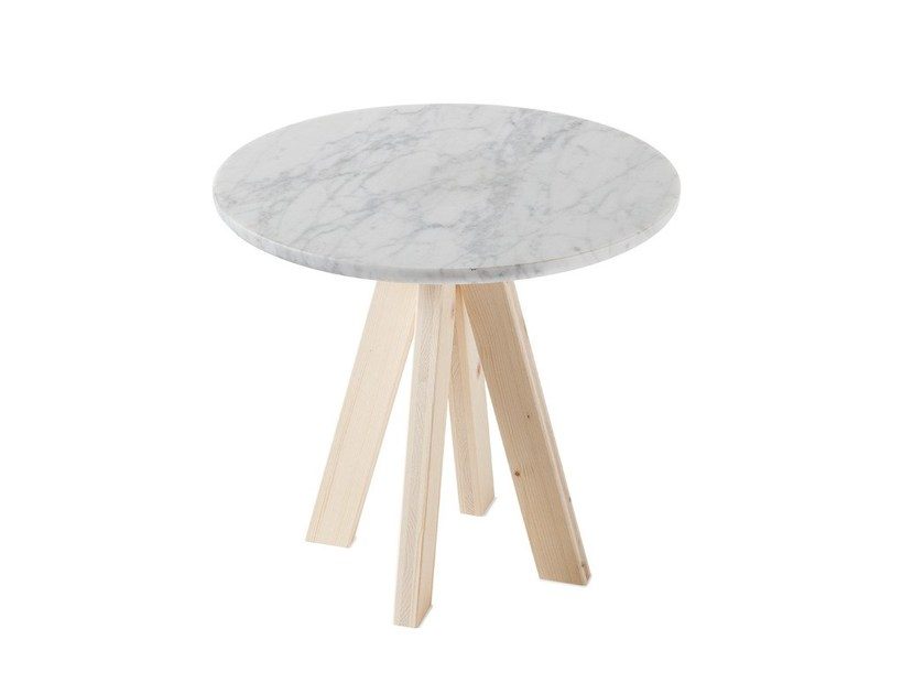 Low round marble coffee table A.NGELO | Marble coffee table - Atipico