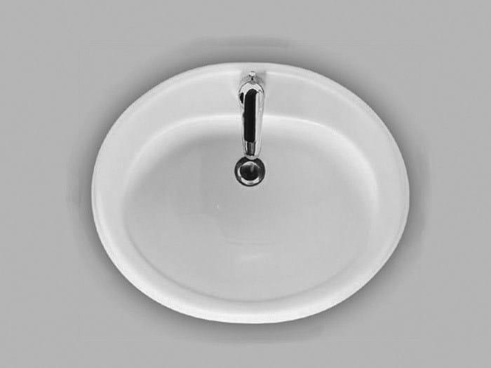 Inset ceramic washbasin A19 | Inset washbasin - Hidra Ceramica