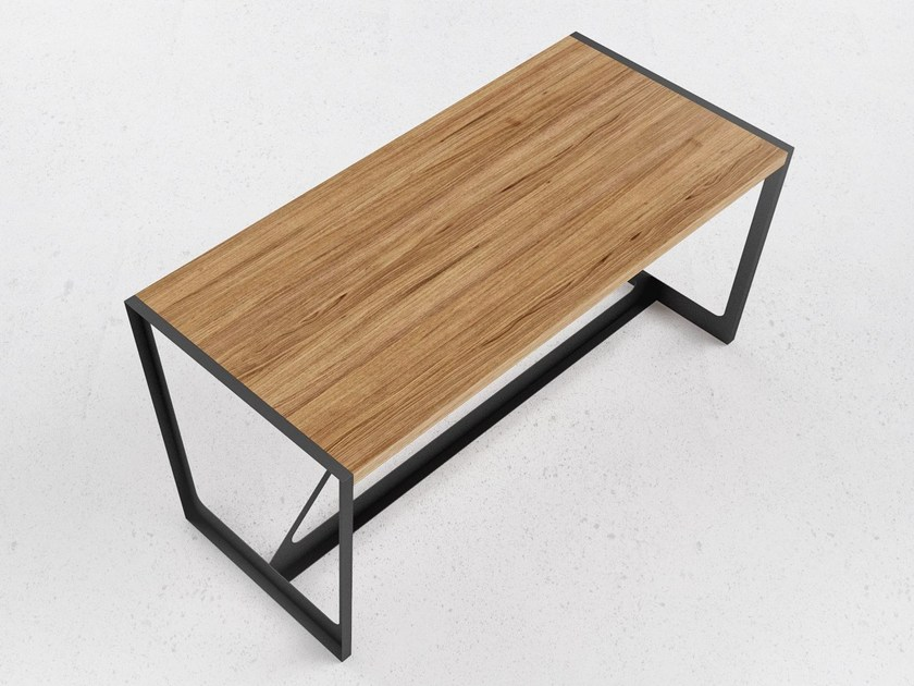 Steel and wood table A2 by ODESD2