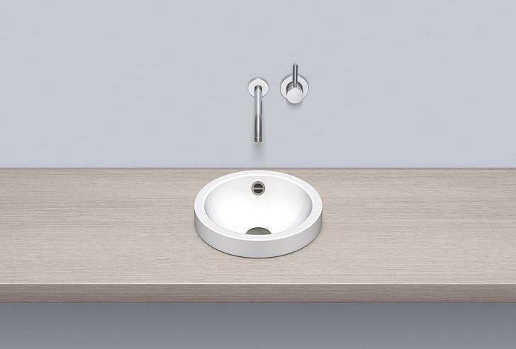 Sit-on basin from glazed steel AB.K325.1 - ALAPE
