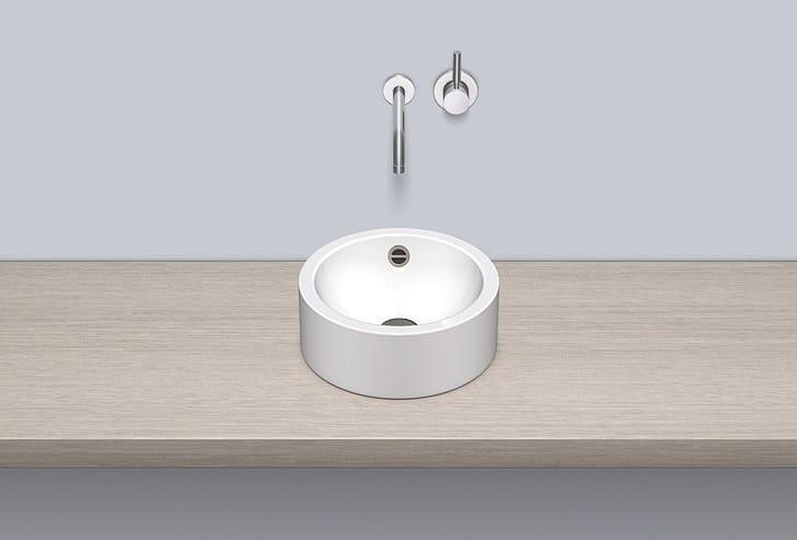 Sit-on basin from glazed steel AB.K325.2 - ALAPE