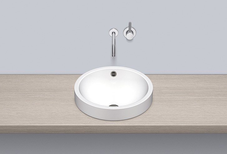 Sit-on basin from glazed steel AB.K450.1 - ALAPE
