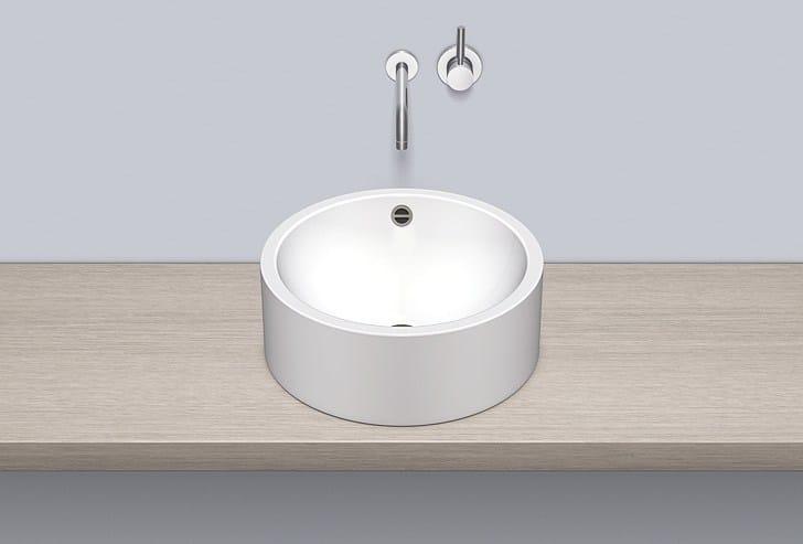 Sit-on basin from glazed steel AB.K450.2 - ALAPE