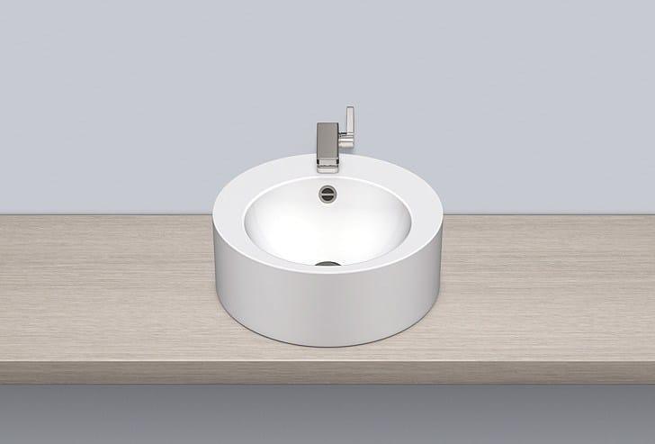 Sit-on basin from glazed steel AB.K450H.2 - ALAPE