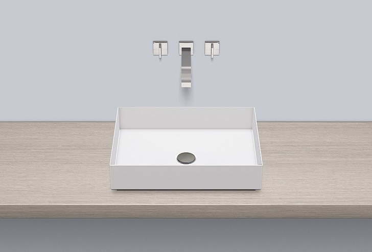 Sit-on basin from glazed steel AB.ME500 - ALAPE
