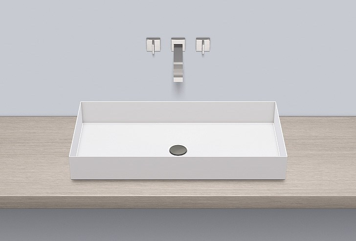 Sit-on basin from glazed steel AB.ME750 - ALAPE