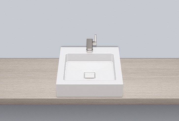 Sit-on basin from glazed steel AB.Q450H.1 - ALAPE