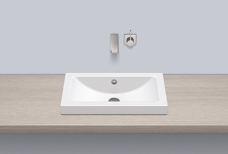 Sit-on basin from glazed steel AB.R585.1 - ALAPE