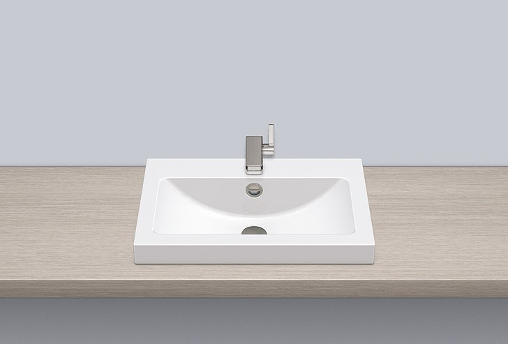 Sit-on basin from glazed steel AB.R585H.1 - ALAPE