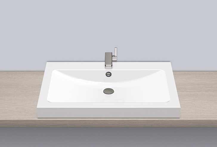 Sit-on basin from glazed steel AB.R800H - ALAPE