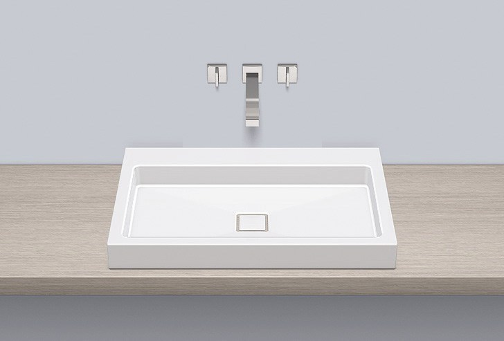 Sit-on basin from glazed steel AB.RE700.2 - ALAPE
