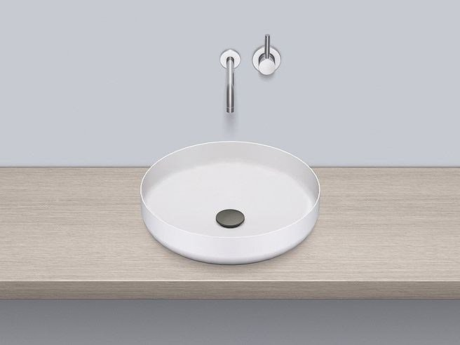 Sit-on basin from glazed steel AB.SO450.1 - ALAPE