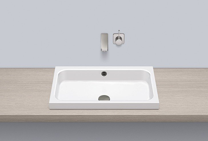 Sit-on basin from glazed steel AB.SR650 - ALAPE
