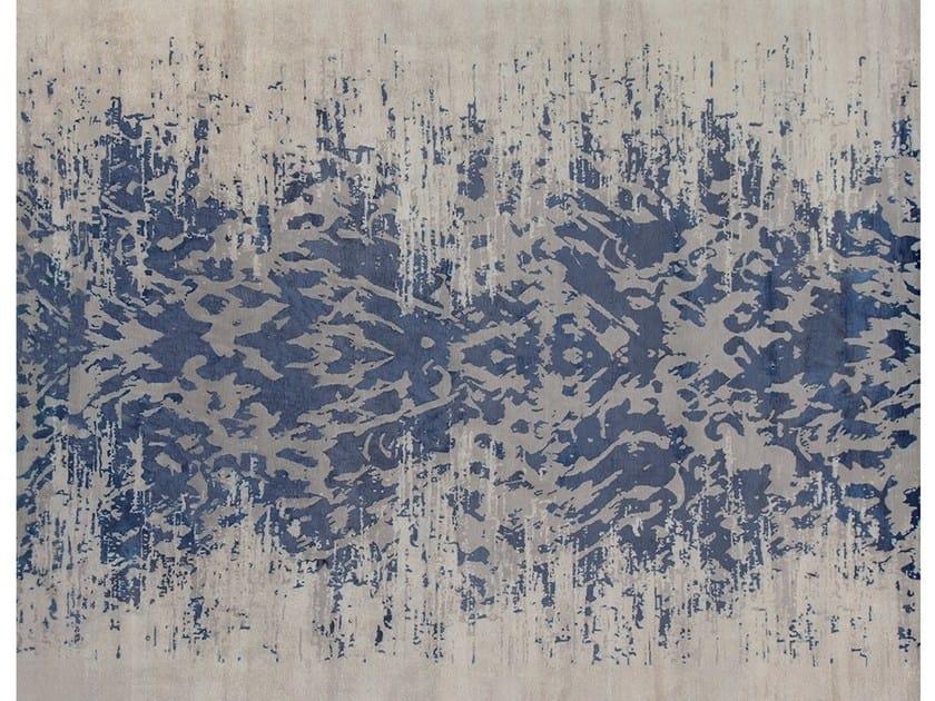 Handmade rug ABAYA INDIGO - EDITION BOUGAINVILLE