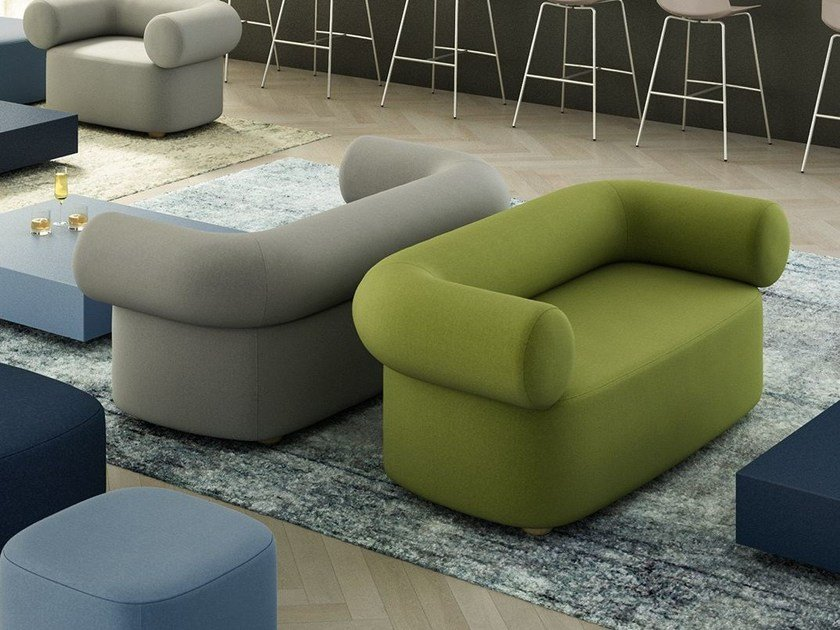 Fabric small sofa ABBEY | Small sofa by Quadrifoglio