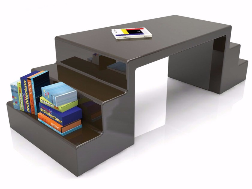 Lacquered Adamantx® workstation desk with shelves ABBOTT - ZAD ITALY