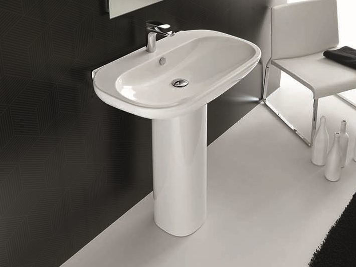 Pedestal ceramic washbasin ABC | Single washbasin - Hidra Ceramica