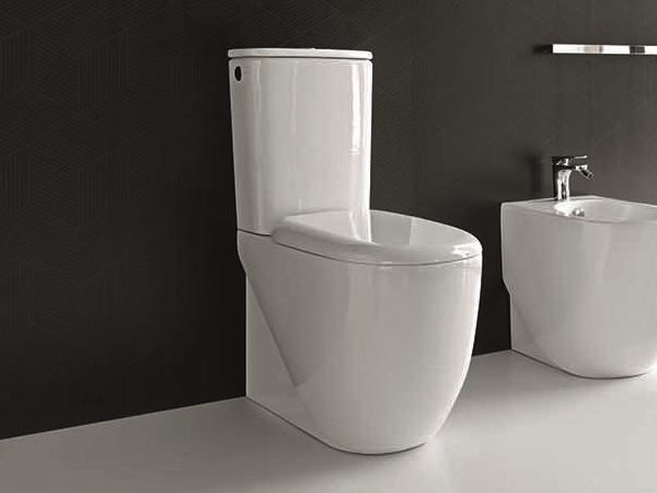 Ceramic toilet ABC | Close coupled toilet - Hidra Ceramica