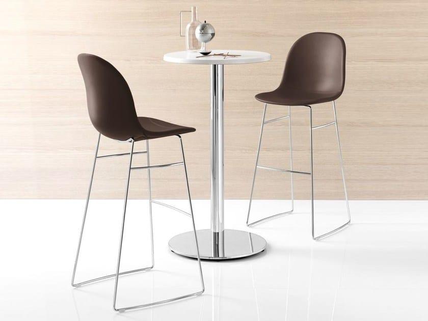 Sled base counter stool ACADEMY | Counter stool - Calligaris