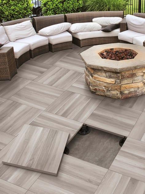 Pavimento per esterni in gres porcellanato effetto legno ACANTO  Pavimento per esterni ...