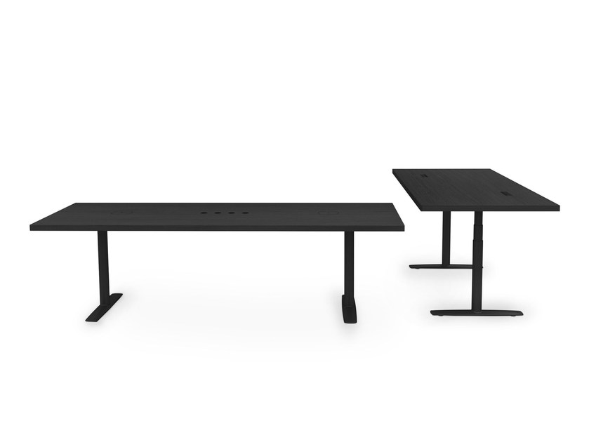 Height-adjustable rectangular office desk ACCA by Lapalma