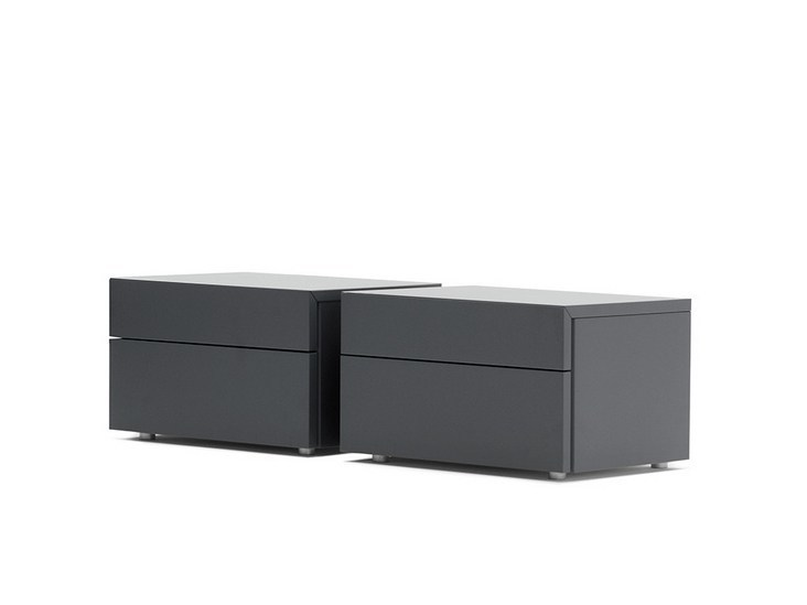 Bedside table with drawers ACCA | Rectangular bedside table - Silenia
