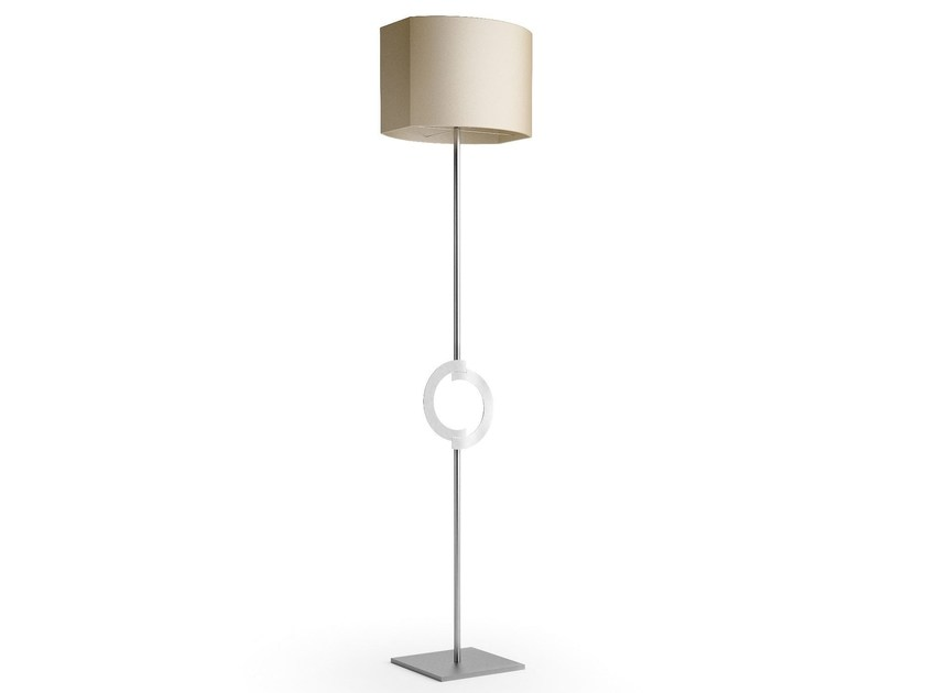 Contemporary style direct-indirect light steel floor lamp ACCENT | Steel floor lamp - Caroti