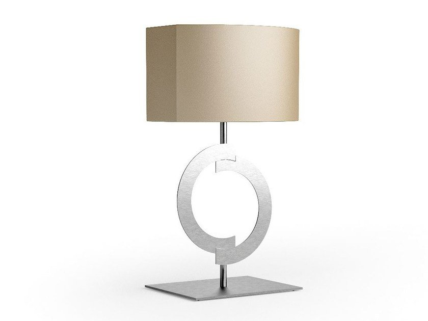 Contemporary style steel bedside lamp with fixed arm ACCENT | Steel table lamp - Caroti