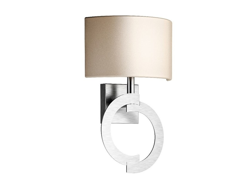 Contemporary style direct-indirect light steel wall light with fixed arm ACCENT | Steel wall light - Caroti