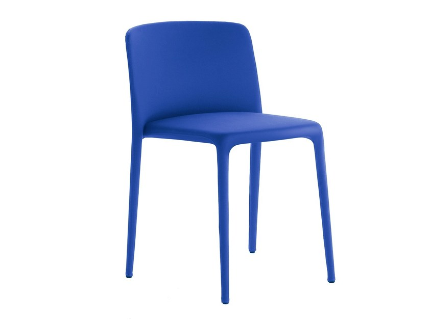 Upholstered stackable chair ACHILLE | Chair - MDF Italia
