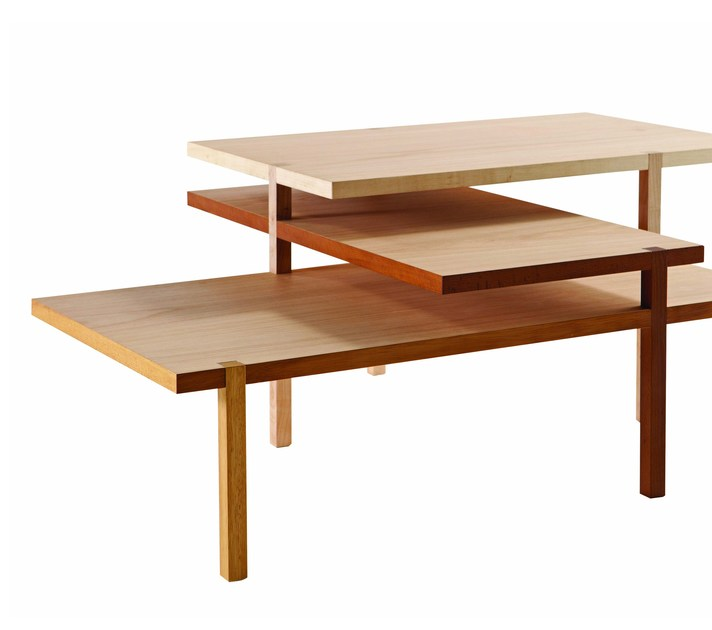 Wooden coffee table for living room with integrated magazine rack ACHILLE - ROCHE BOBOIS