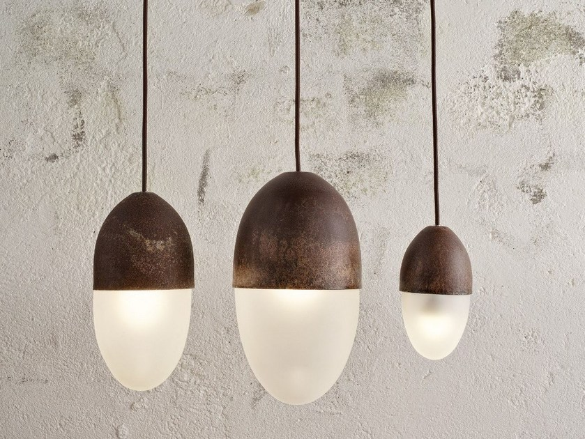 LED blown glass pendant lamp ACORN - Olev by CLM Illuminazione