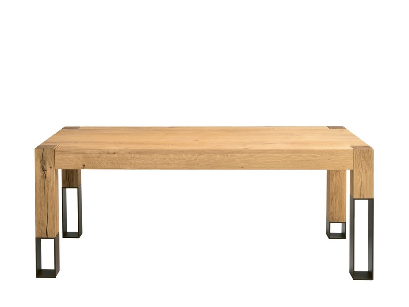 Extending steel and wood table ACQUA ALTA by Colico