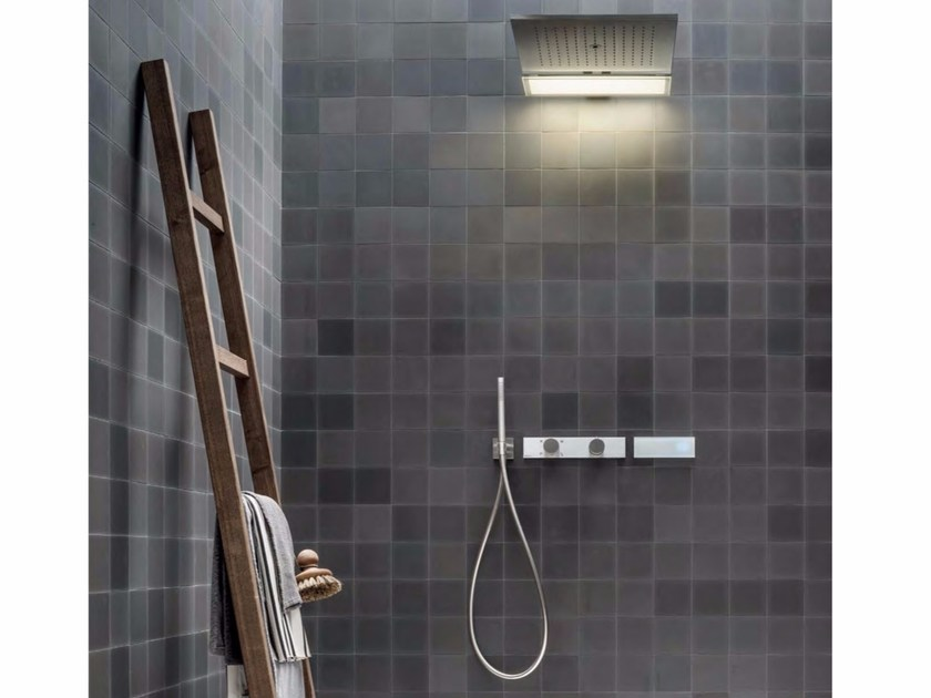 Thermostatic built-in shower panel with overhead shower ACQUADOLCE | Shower panel - Fantini Rubinetti