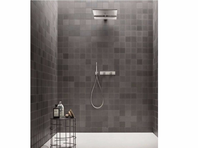 Shower mixer with hand shower with overhead shower ACQUADOLCE | Shower mixer with hand shower - Fantini Rubinetti